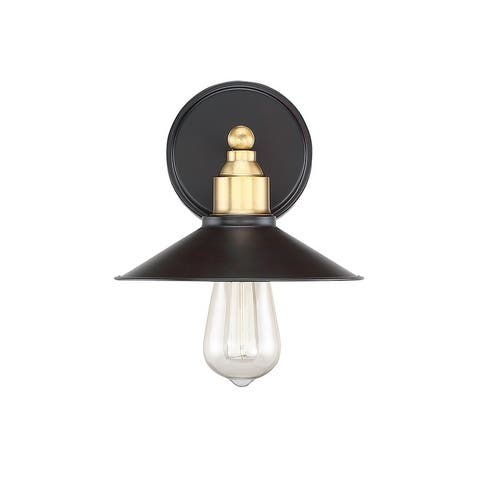 Carbon Loft Melville 1-light Wall Sconce with Oil Rubbed Bronze and Brass Accents