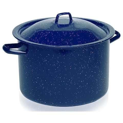 IMUSA C20666-1062810W 4-Qt. Enamel Stock Pot, Blue