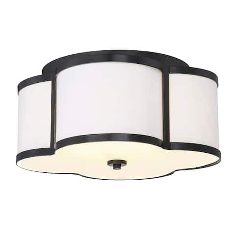 Copper Grove Forn 3-light Semi-flush Mount Ceiling Light