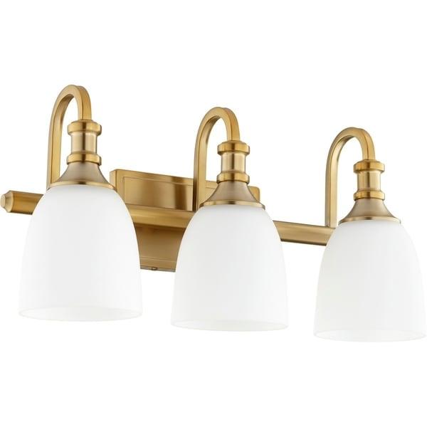 Shop Richmond Aged Brass 3-light Vanity Lighting