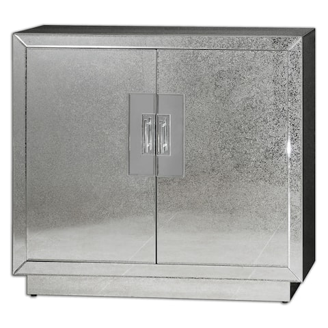 Uttermost Andover Antique Mirrored Cabinet
