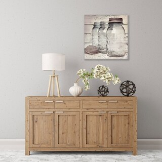 ArtWall Vintage Jars II Wood Pallet Art