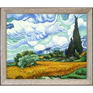 Vincent Van Gogh 'Wheat Field with Cypresses' Hand Painted Oil Reproduction