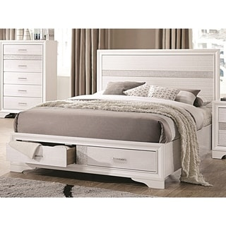 Miranda Contemporary White Storage Bed