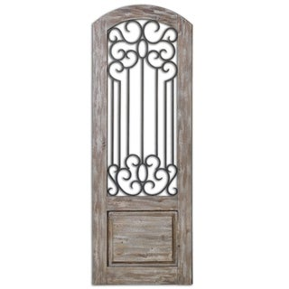 Uttermost Mulino Taupe Grey Distressed Wall Panel