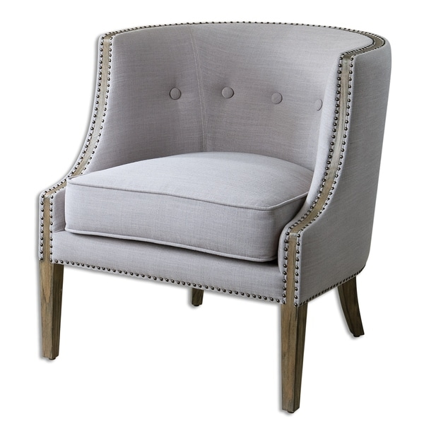 Uttermost Gamila Light Grey Accent Chair. Opens flyout.