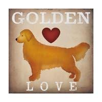 Ryan Fowler 'Golden Dog Love I' Canvas Art