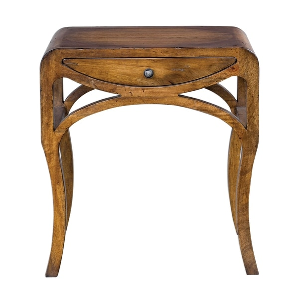 Shop Uttermost Cheryth Light Honey End Table Free Shipping Today