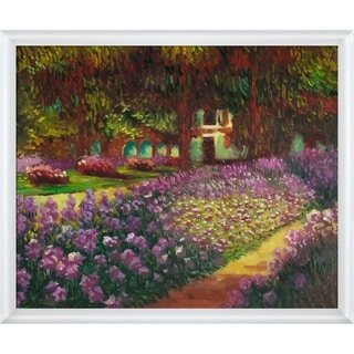 Claude Monet 'Artist's Garden at Giverny' Hand Painted Oil Reproduction