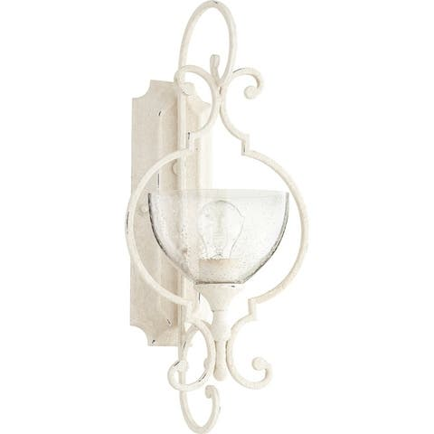 Ansley Clear Seeded 1-light Wall Light