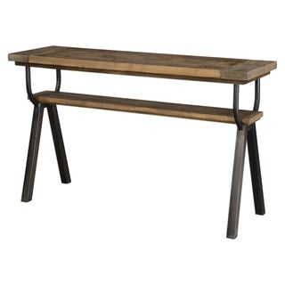 Uttermost Domini Warm Honey Industrial Console Table