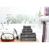 100% long-staple Combed Cotton Towel Set (6-Piece), quick dry towels, super plush hand feel, water gobbler By Homeway Décor