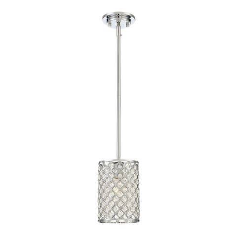 Silver Orchid Finlayson 1-light Crystal Chrome Mini Pendant