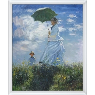 Claude Monet 'Madame Monet and Her Son' Hand Painted Oil Reproduction