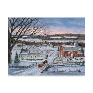Bob Fair 'Christmas Sleigh Ride' Canvas Art