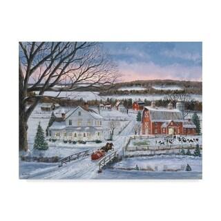 Bob Fair 'Christmas Sleigh Ride' Canvas Art