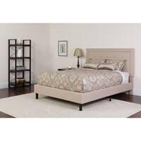 Grey Tufted Upholstered Queen Size Platform Bed
