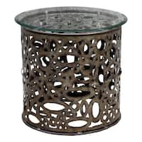 Uttermost Zama Natural Industrial Accent Table