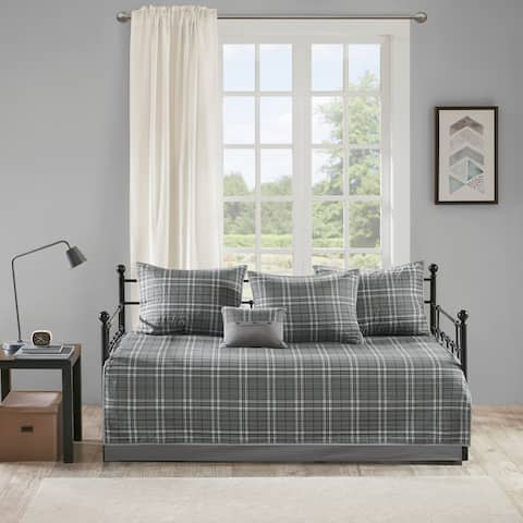 Intelligent Designs Campbell Grey Daryl 6 Piece Daybed Set