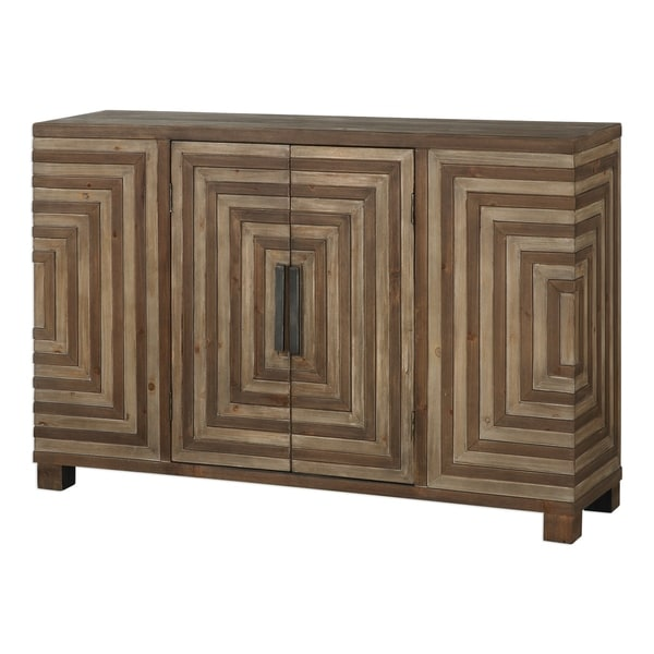 Uttermost Layton Two-tone Geometric Console Cabinet. Opens flyout.