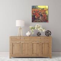 ArtWall Red Vinyard at Aries Wood Pallet Art
