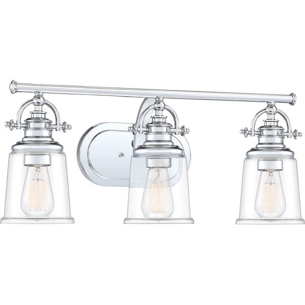 Grant Polished Chrome 3-light Bath Light. Opens flyout.