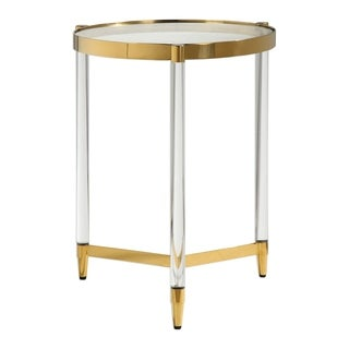 Uttermost Kellen Gold Plated Accent Table