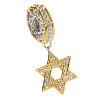 Michael Valitutti Palladium Silver Star of David Charm