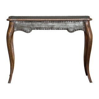 Uttermost Roarke Charcoal Rubbed Honey Industrial Console Table