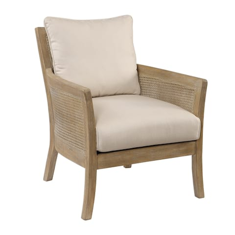 Uttermost Encore Sandstone Exposed Arm Chair