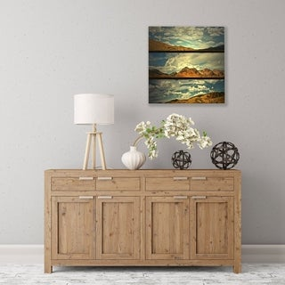 ArtWall Saving Skys Wood Pallet Art