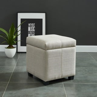 Link to Juno-Hinged Lid Storage Ottoman Similar Items in Living Room Furniture