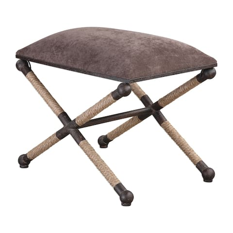 Uttermost Evert Taupe Brown Accent Stool