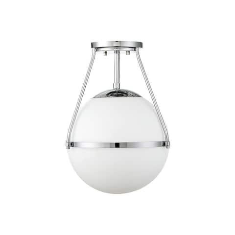 Carson Carrington Henningsvaer 1-light Semi-flush Mount Ceiling Lighting Fixture