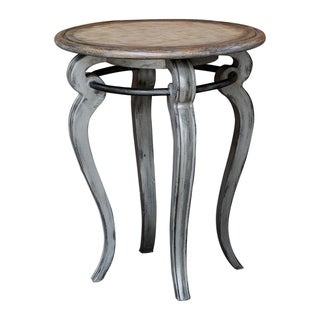 Uttermost Mariah Distressed Grey Accent Table