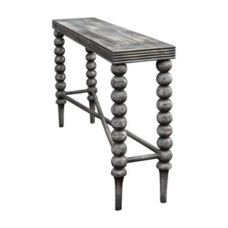 Uttermost Kunja Charred Grey Console Table