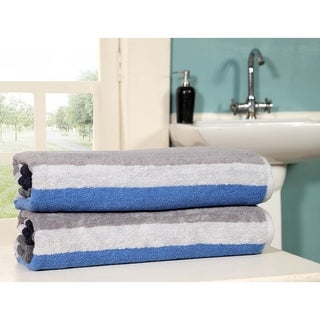 Oversized Jacquard Woven Beach Towel 40*70 Pack of 2 pieces 100% Ringspun Cotton By Homeway Decor