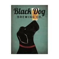 Ryan Fowler 'Black Dog Brewing Co V2' Canvas Art