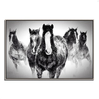 """""""Winter Rumble"""" by Deb Lee Carson, Fine Art Giclee Print on Gallery Wrap Canvas, Ready to Hang"""