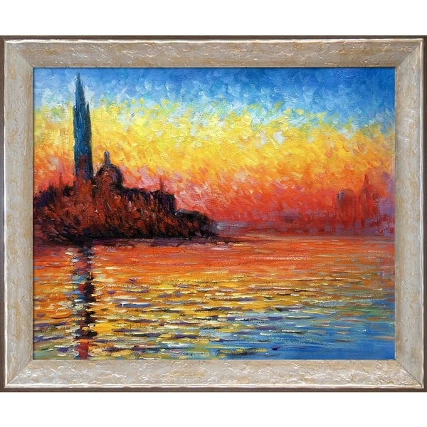 Georgio Design Bank.Shop Claude Monet San Giorgio Maggiore By Twilight Hand Painted