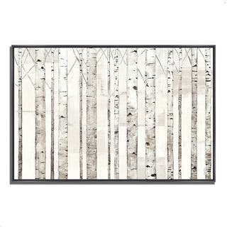 Avery Tillmon 'Birch Trees on White' Gallery-wrapped Canvas Fine Art Giclee Print