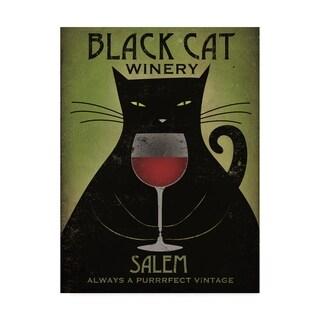 Ryan Fowler 'Black Cat Winery Salem' Canvas Art