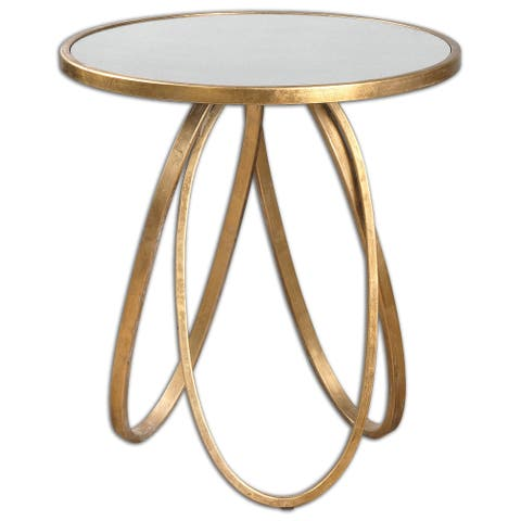 Uttermost Montrez Lightly Gold Leaf Accent Table