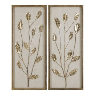 Uttermost Branching Out Gold Leaf Panel (Set of 2)