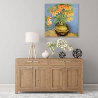 ArtWall Fritillaries Wood Pallet Art