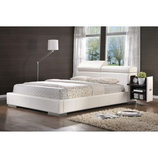 Maxine Contemporary White Upholstered Bed