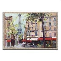 Marilyn Hageman 'Springtime in Paris' Fine Art Giclee Print on Gallery Wrapped Canvas