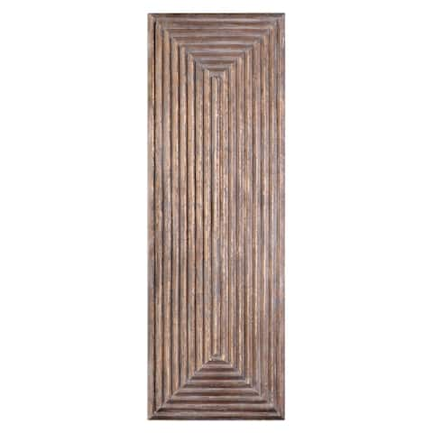 Uttermost Lokono Oxidized Gold Tiered Wall Panel