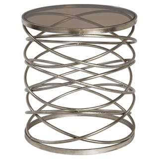 Uttermost Marella Antiqued Silver Modern Accent Table