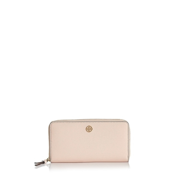 4f9d364744d Shop Tory Burch Robinson Zip Pale Apricot Royal Navy Continental ...